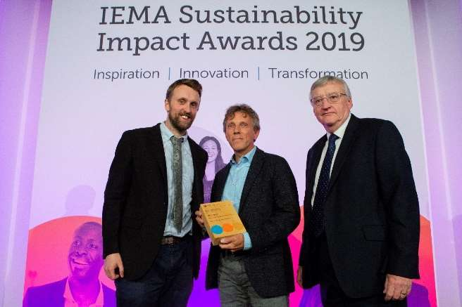 Celebrating the obtained Innovation in Impact Assessment Award