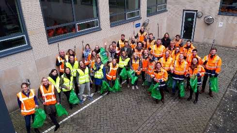 Waste collection with the Green Business Club Utrecht, © Green Business Club Utrecht