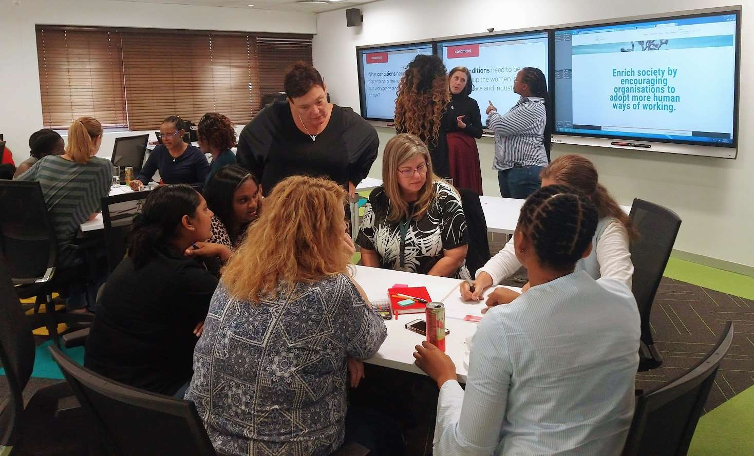 Gender diversity session with female employees, South Africa