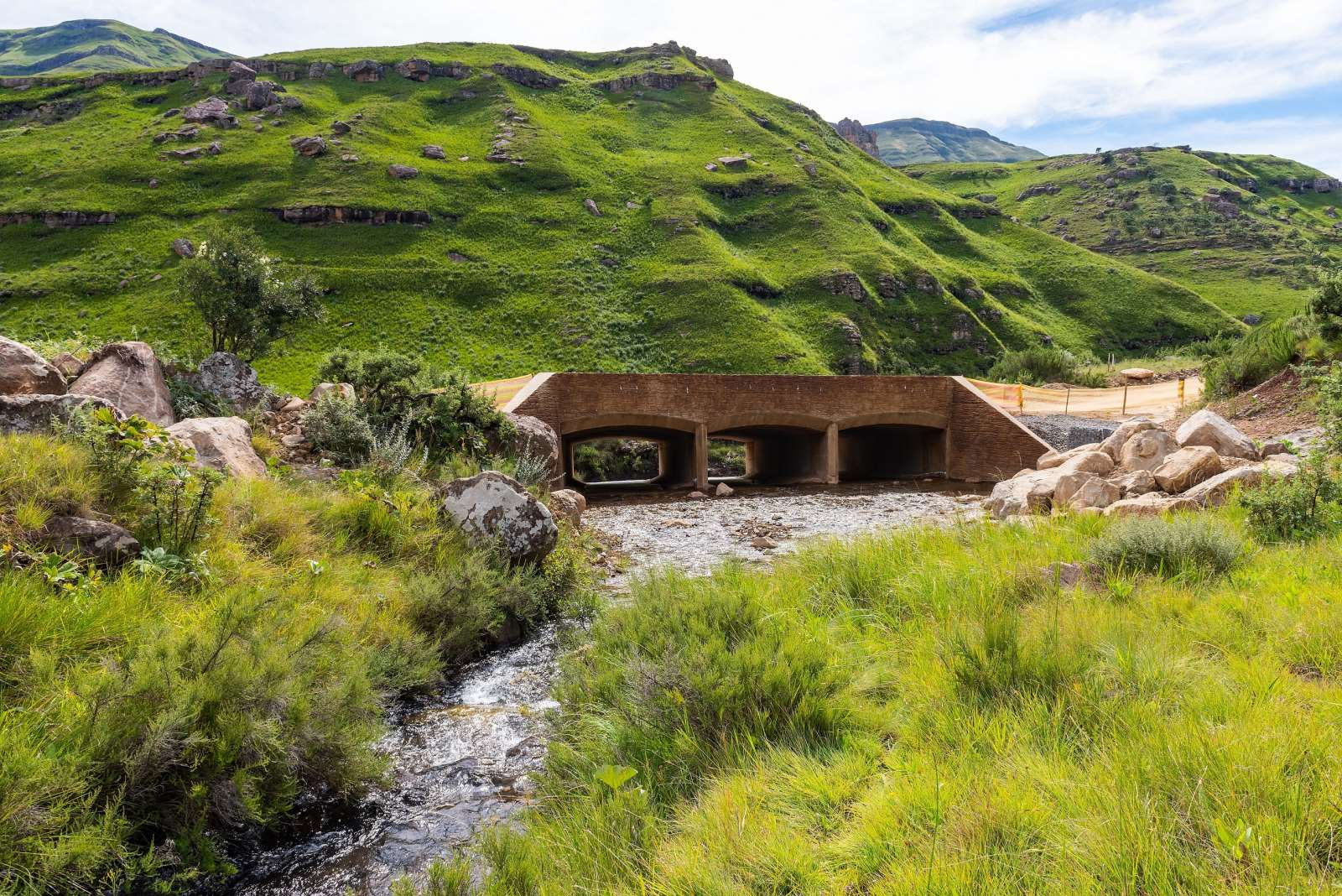 Sani Pass: the road link between KwaZulu-Natal and Lesotho, South Africa