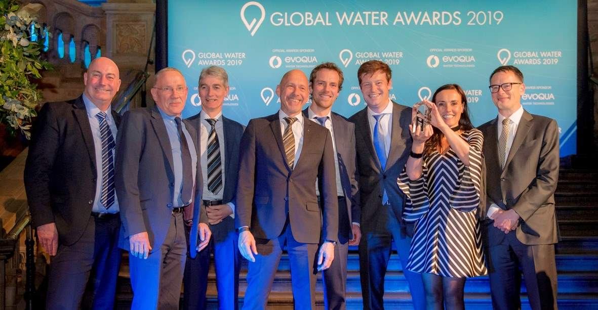 Project team celebrating the obtained Global Water Award 2019