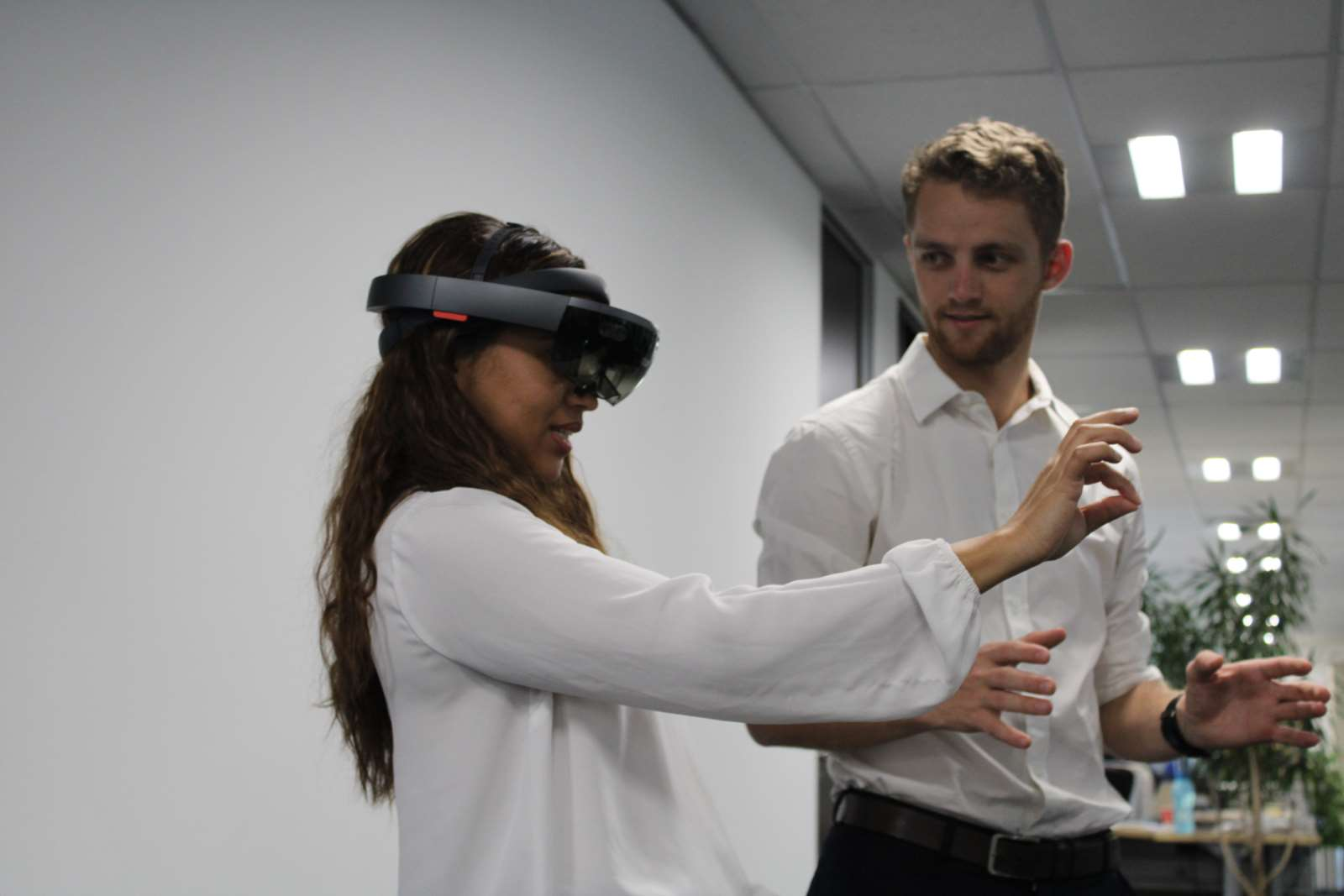 Interactive workshop on augmented and virtual reality, local office South Africa